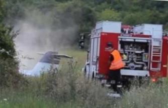 Bulgaristan'da uçak düştü: Ölenler var