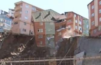 Kağıthane'de 4 katlı bina canlı yayında çöktü