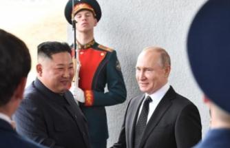 Putin ile Kim ilk kez bir arada
