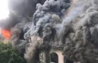 100 yıllık tarihi otelde yangın