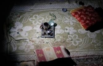 Ceylanpınar'da roketin isabet ettiği ev görüntülendi