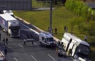 Yavuz Sultan Selim Köprüsü'nde feci kaza! Yaralılar var