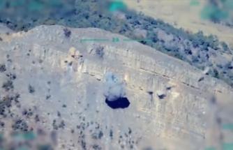 F-16 uçakları Irak'ın kuzeyinde tespit edilen terör yuvalarını imha etti