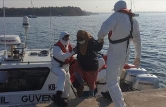 Türk kara sularına itilen 9 sığınmacı kurtarıldı