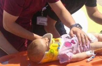 1,5 yaşındaki bebek dördüncü kattan düştü