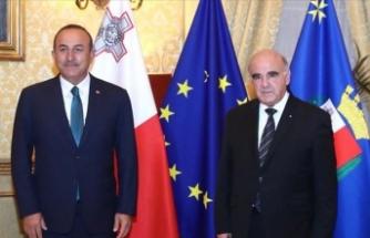Dışişleri Bakanı Çavuşoğlu, Malta Cumhurbaşkanı Vella ile bir araya geldi