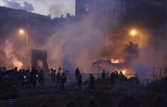 Lübnan'daki gösterilerde bir güvenlik görevlisi hayatını kaybetti