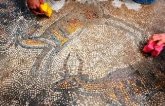 1624 yaşındaki mozaikler gün yüzüne çıkarılıyor