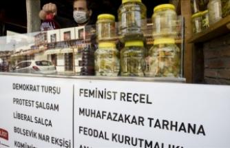 Antiemperyalist Tükkan her fikirden ürünlerle dolu