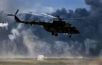 Rus paralı askerleri taşıyan helikopter düştü