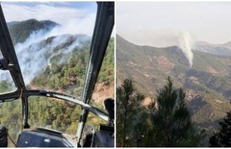 Anamur'daki yangın yerleşim yerine sıçradı! Karayolu trafiğe kapatıldı