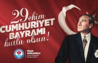Başkan Zorluoğlu'ndan 29 Ekim  Cumhuriyet Bayramı mesajı