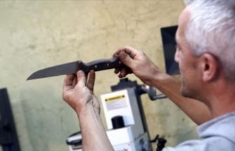 Devletten aldığı hibeyle Sürmene bıçakları üretiyor