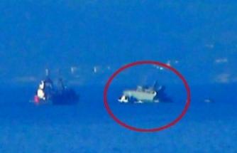 Yunan donanmasına ait gemi konteyner gemisiyle çarpıştı