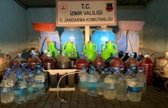 972 litre kaçak içki ele geçirildi