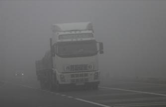 Bolu Dağı sisli ve yağışlı