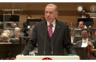 Erdoğan: Sanatçılar arasında ayrım yapan eski Türkiye manzarasına son verdik!