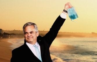 'Evden kalın' uyarısı yapan belediye başkanı Meksika'ya tatil gitti
