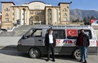 Mehmetçik için 1700 kilometre yol kat etti