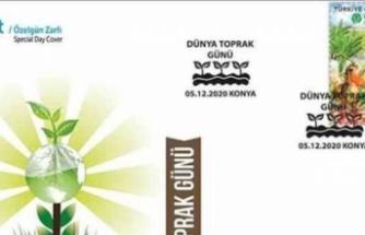 """PTT AŞ'de """"Dünya Toprak Günü"""" konulu özelgün zarfı"""