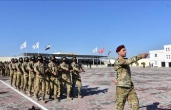 SMO askerlerinden kışlada ilk tören