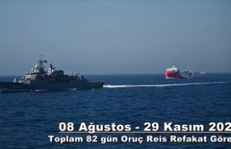 TSK Oruç Reis'e 82 gün refakat etti
