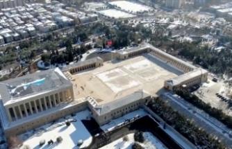 MSB'den havadan görüntülenmiş Anıtkabir paylaşımı