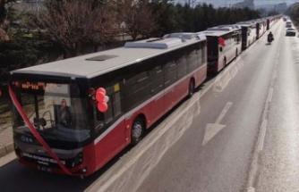 Samsunluların yeni otobüsleri seferde