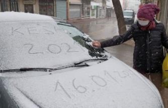 Trakya'da kar yağışı: Tekirdağ, Edirne ve Kırklareli beyaza büründü