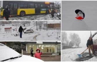 Yurttan kar manzaraları: İstanbul, İzmir, Bursa, Edirne, Tekirdağ...