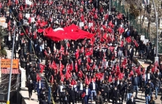 Şırnak'ta PKK protesto edildi