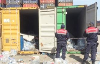 2 konteyner içinde 55 sığınmacı yakalandı