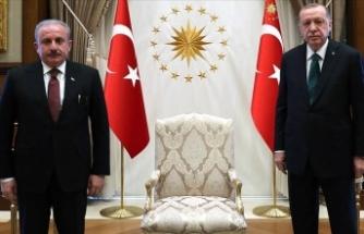 Cumhurbaşkanı Erdoğan Mustafa Şentop ile görüştü