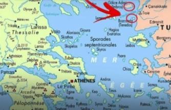 Provokatif harita: Adalarımızı Yunanistan'a verdiler
