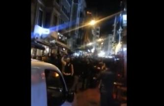 Taksim'de ezanın ıslıklanması sonrası bir grup ezana sahip çıkmak için yürüdü!