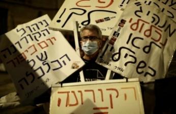 İsrail'de Netanyahu karşıtı gösteriler karantina tanımıyor