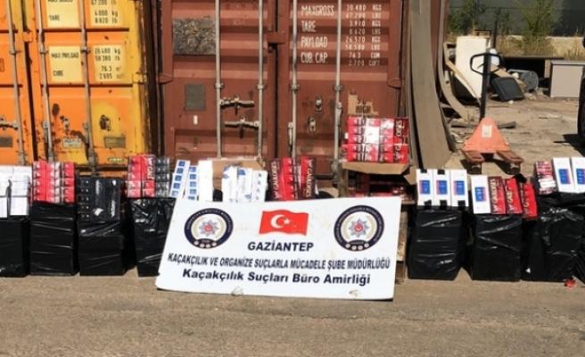 Gaziantep'te 19 bin paket kaçak sigara ele geçirildi