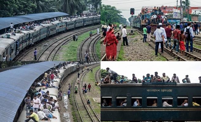 Her gün binlerce yolcu işe tren üzerinde gidiyor