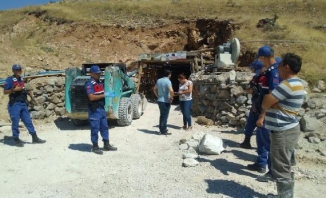 Kırşehir'de maden ocağında göçük, 1 ölü