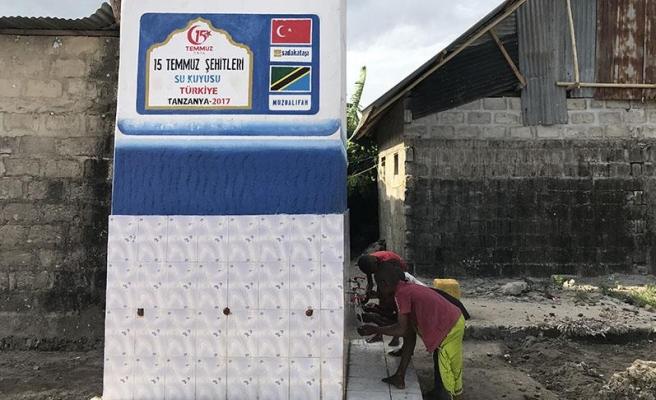 Zanzibarlılar Sadakataşı'nın su kuyularıyla hayat buluyor