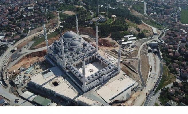 Çamlıca Camii'nde artık sona gelindi