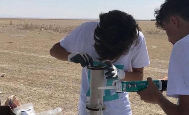 Nun Okulları'ndan başarılı roket denemesi