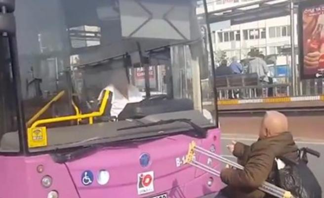 Engelli vatandaşı otobüse almayan şoföre ibretlik ceza