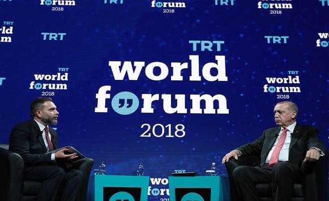 Erdoğan TRT World Forum'da konuştu