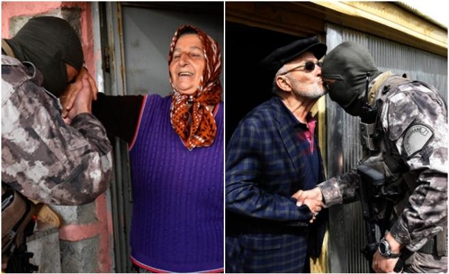 PÖH'ler Karadeniz'de el öpüp, hayır duası alıyor