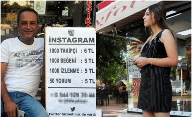 """Sokağa tezgah açtı, sosyal medya için """"like"""" """"rt"""" satıyor"""