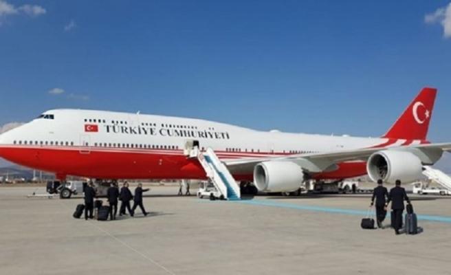 Erdoğan 'uçan jumbo'yu ilk kez kullandı