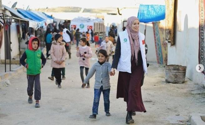 Oyuncu Gamze Özçelik bir kez daha İdlib'te