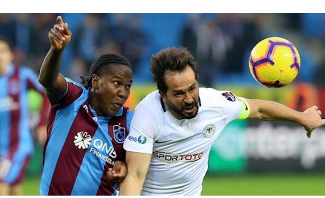 Trabzonspor-Konyaspor maçının sonunda 'Konyalım' şarkısı çalındı