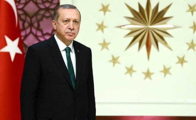 Cumhurbaşkanı Erdoğan'dan AYM Başkanı Arslan'a tebrik telgrafı
